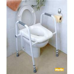 toilet seat with frame